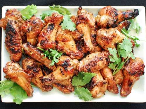 Grilled Spicy Chicken Wings With Soy and Fish Sauce Recipe
