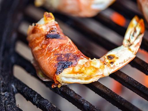 Prosciutto-Wrapped Shrimp With Mozzarella and Basil Recipe