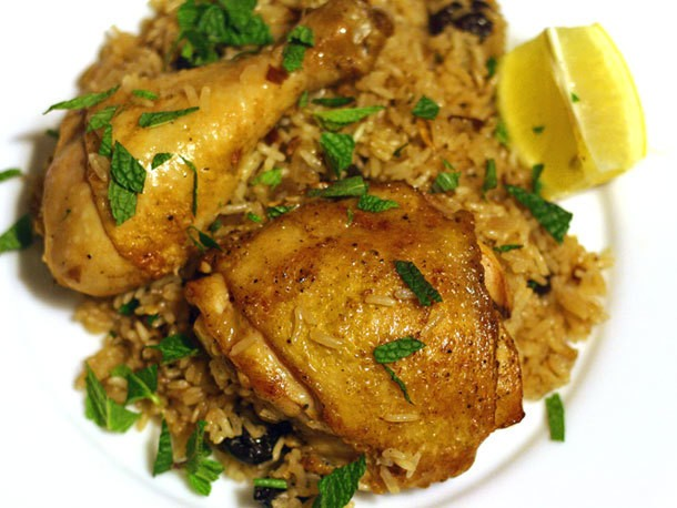 Chicken and Rice With Almonds and Dried Cherries Recipe