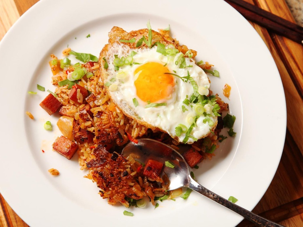 Best Eaten Alone Without Pants On: Kimchi and Spam Fried Rice