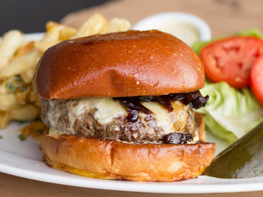 Tasty Bistro Burgers and Duck Fat Fries at The Smoking Goat in San Diego