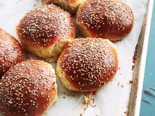 Cemitas (Mexican Sesame Seed Sandwich Buns) Recipe