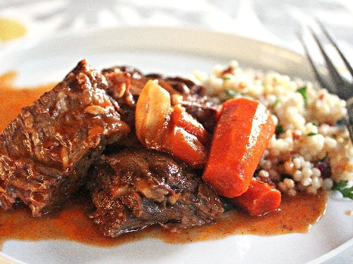 Moroccan Pot Roast With Dried Cherry Couscous Recipe