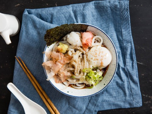 Bukkake Udon (Japanese Cold Noodles With Broth) Recipe