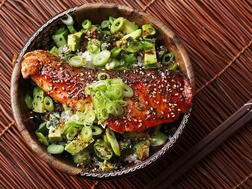 Make These Fresh and Easy Teriyaki-Glazed Salmon Rice Bowls for Dinner Tonight