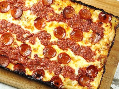 Detroit-Style Pan Pizza Recipe
