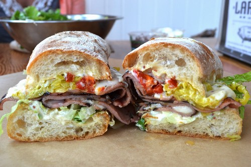 A Sandwich a Day: Griddled Mortadella at Lardo in Portland, OR