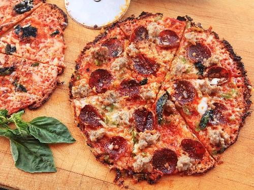 Extra-Crispy Bar-Style Tortilla Pizza Supreme Recipe