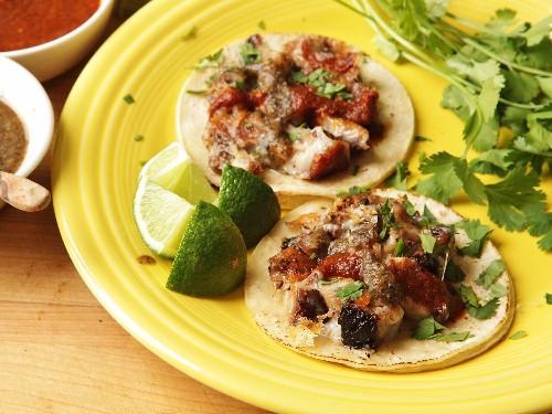 Yucatecan Pork Belly and Cheese Tacos (Tacos de Castacán Con Queso) Recipe