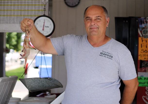 Fresh Seafood Galore at Westwego Shrimp Lot Near New Orleans, LA