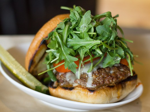 Thumbs Up for the Ribeye Sausage Burger at Salt & Cleaver in San Diego