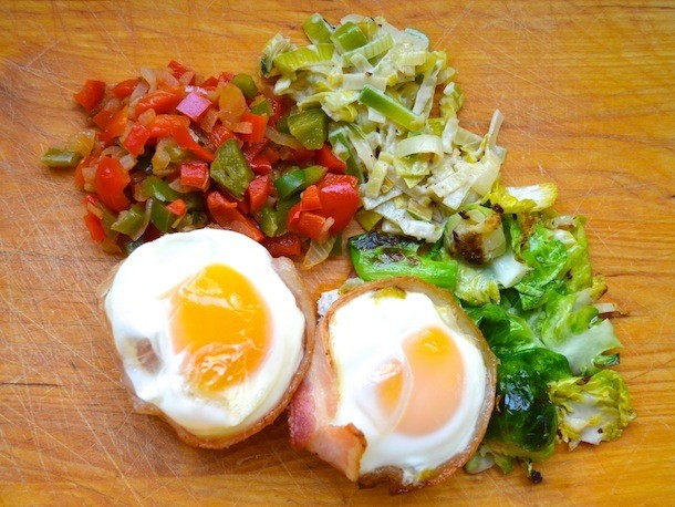 Eggs in Bacon Baskets Recipe