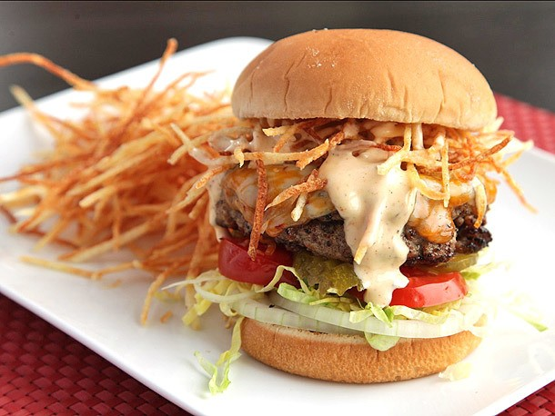 The Burger Lab's Toppings Week 2013: Grilled Cuban Fritas (Spiced Burgers with Shoestring Fries)