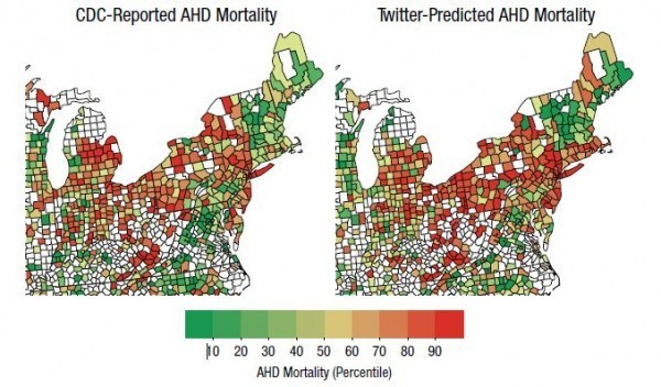 Twitter can predict heart disease, study says