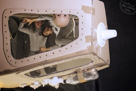 Family re-creates movie scenes with cardboard boxes