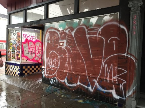 Months after eviction, Galería de la Raza's former building covered in graffiti