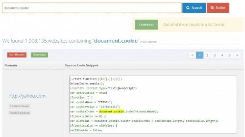 NerdyData: a source code search engine