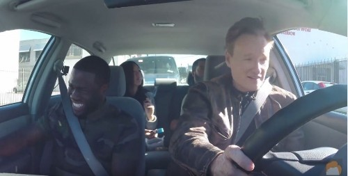 Watch: Conan O'Brien, Ice Cube, and Kevin Hart smoke weed with a student driver