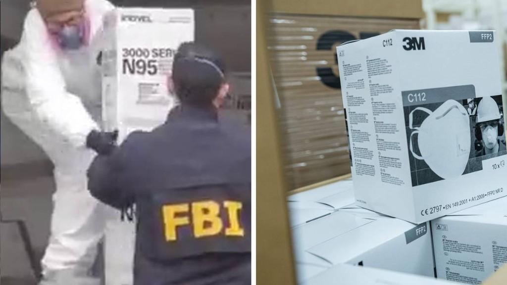 Mehr als 80.000 Schutzmasken gehamstert? Verdächtiger hustet bei Festnahme FBI-Beamte an