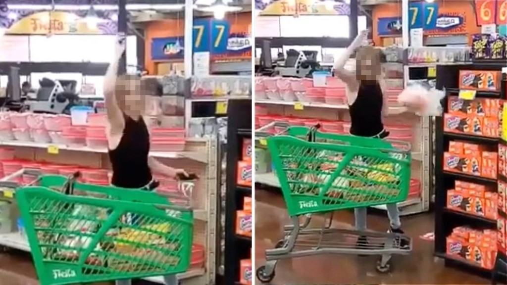 Streit um Maskenpflicht: Supermarkt-Kundin schmeißt mit Lebensmitteln um sich