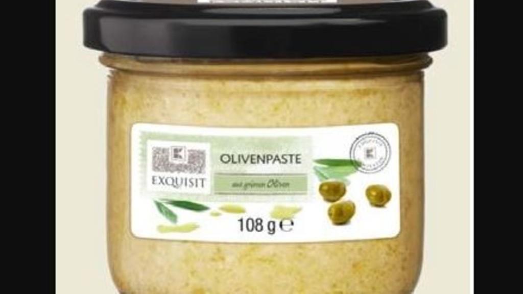 Verletzungsgefahr durch Glasscherben: Olivenpaste wird zurückgerufen