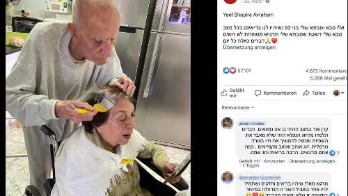 92-Jähriger färbt seiner Frau die Haare, weil alle Friseure geschlossen haben