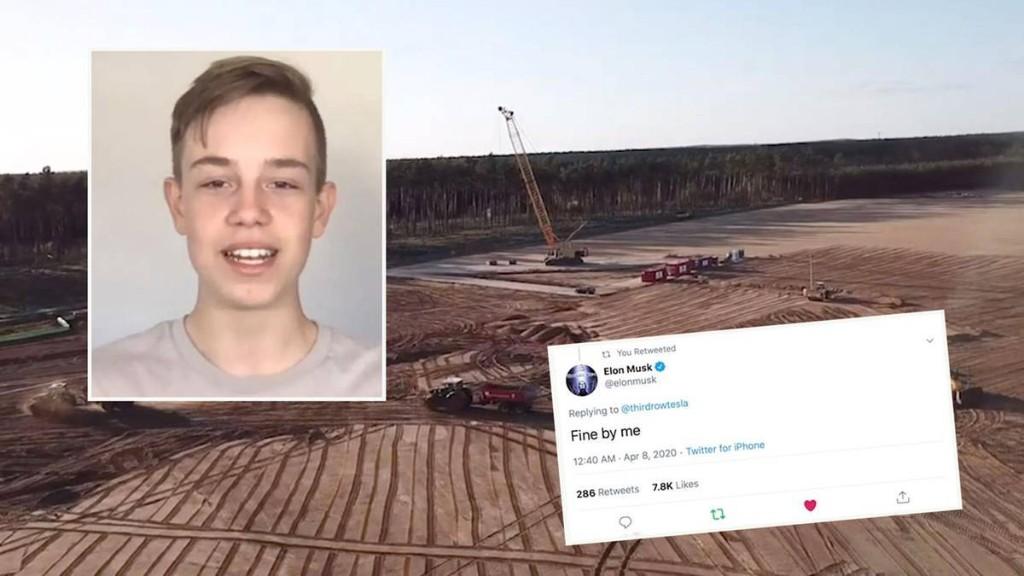 13-Jähriger filmt Bau der Tesla-Fabrik mit Drohne – dann meldet sich Elon Musk bei ihm