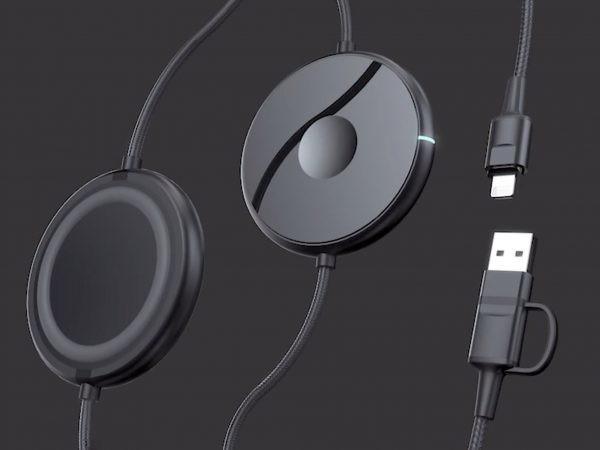 スマホとスマートウォッチをケーブルとワイヤレスで同時充電できる「Snapon」 | Techable(テッカブル)
