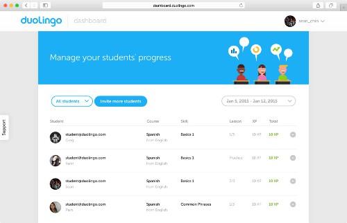 多邻国面向学校推出免费语言学习平台