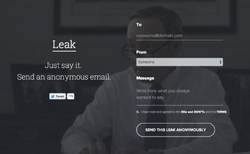 Leak 让你匿名发送电子邮件