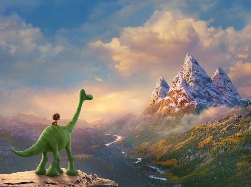 皮克斯为即将上映的《恐龙当家》制作了双倍的特效