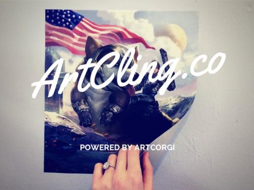 ArtCling 可以把你定制的画作贴在墙上