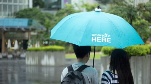 "Umbrella Here:""点亮""雨伞与人分享"