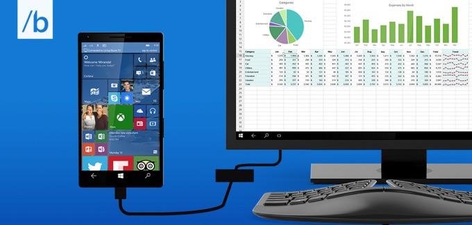 微软推出新功能 Continuum:可让 Windows 10 手机瞬间变成 PC
