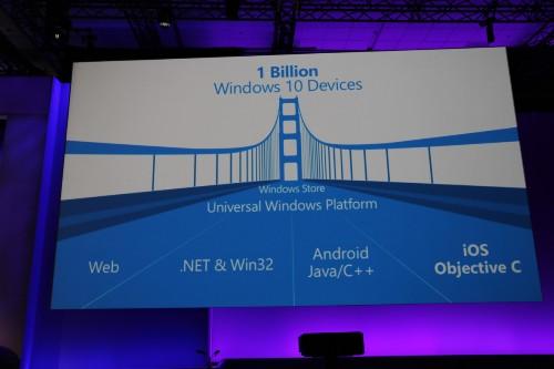 微软宣布 Windows 10 操作系统将兼容安卓和 iOS 应用