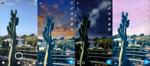 Snapchat 的新 AR 功能可以轻松改变照片里的天气状况