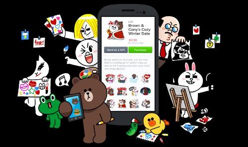 Line 用户自创表情贴纸业务上线一年,营收达 7 千 5 百万美元