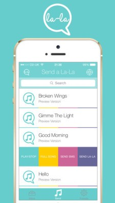 Music Messaging App La-La Lets Users Chat With Songs Snippets