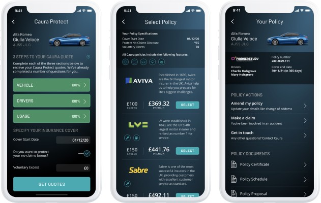 Caura, the app for U.K. car owners, begins offering insurance