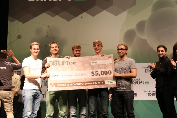Foursquare PreCheck-In Wins The First Disrupt Europe Hackathon, Teleapp And Colorful Gift Place Second And Third