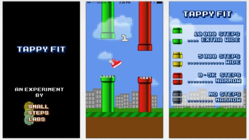 Tappy Fit Channels Flappy Bird Addiction Into Fitness Motivation Using Fitbit Data