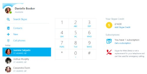 Skype for Web upgraded, now supports dialing mobile phones, landlines and more