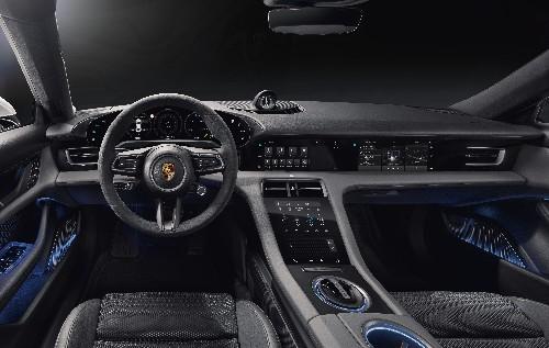 Inside the Porsche Taycan's minimalist, all-digital interior
