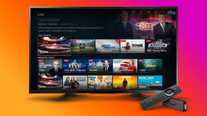 Amazon Fire TV now pulls in live TV content from Sling TV, YouTube TV and Hulu + Live TV