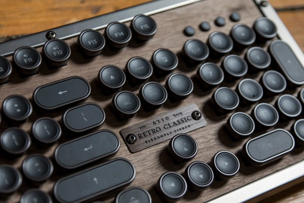 Azio's Retro Classic typewriter-inspired Bluetooth keyboard is a luxurious treat