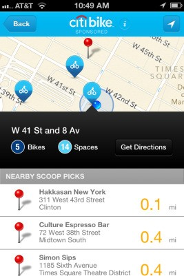 The New York Times' Mobile Guide 'The Scoop' Gets A Citi Bike-Sponsored Update