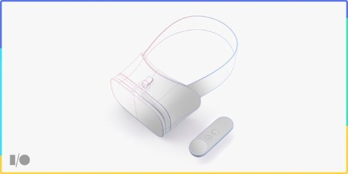 This is Google's new Daydream VR headset reference design, hardware to start arriving in the fall