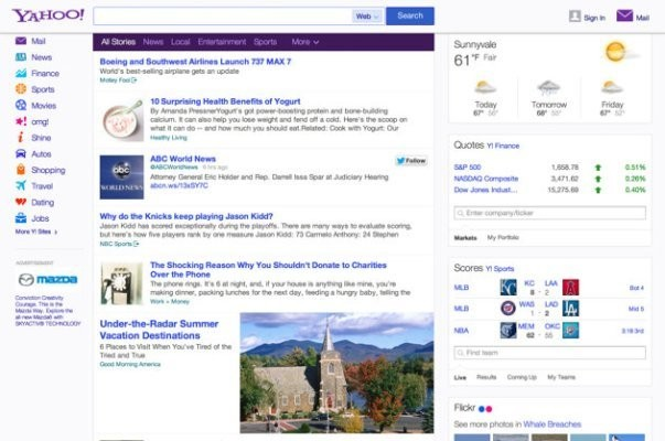 Yahoo Partners With Twitter To Further Personalize Homepage Newsfeed