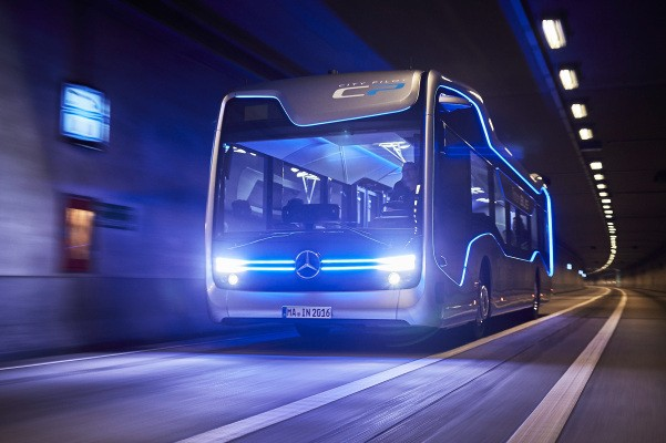 Self-driving Mercedes-Benz bus takes a milestone 12-mile trip