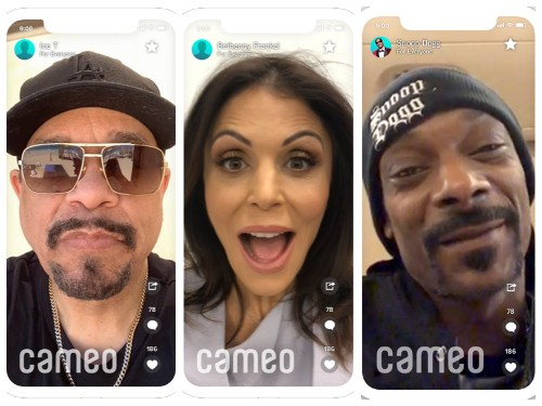Cameo raises $50M to deliver personalized messages from celebrities & influencers